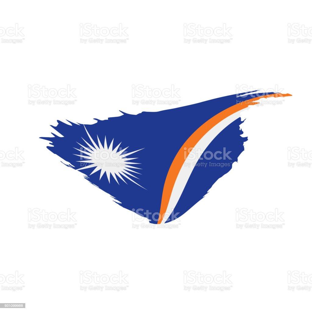Marshall Adaları bayrağı, vektör çizim - Royalty-free Arka planlar Vector Art
