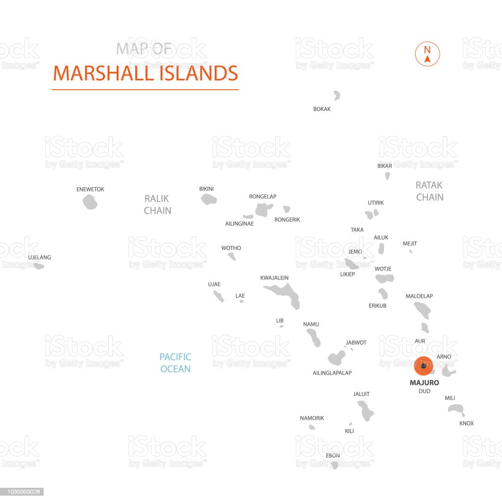 Marshall Islands Map With Administrative Divisions Stock Vector Art ...