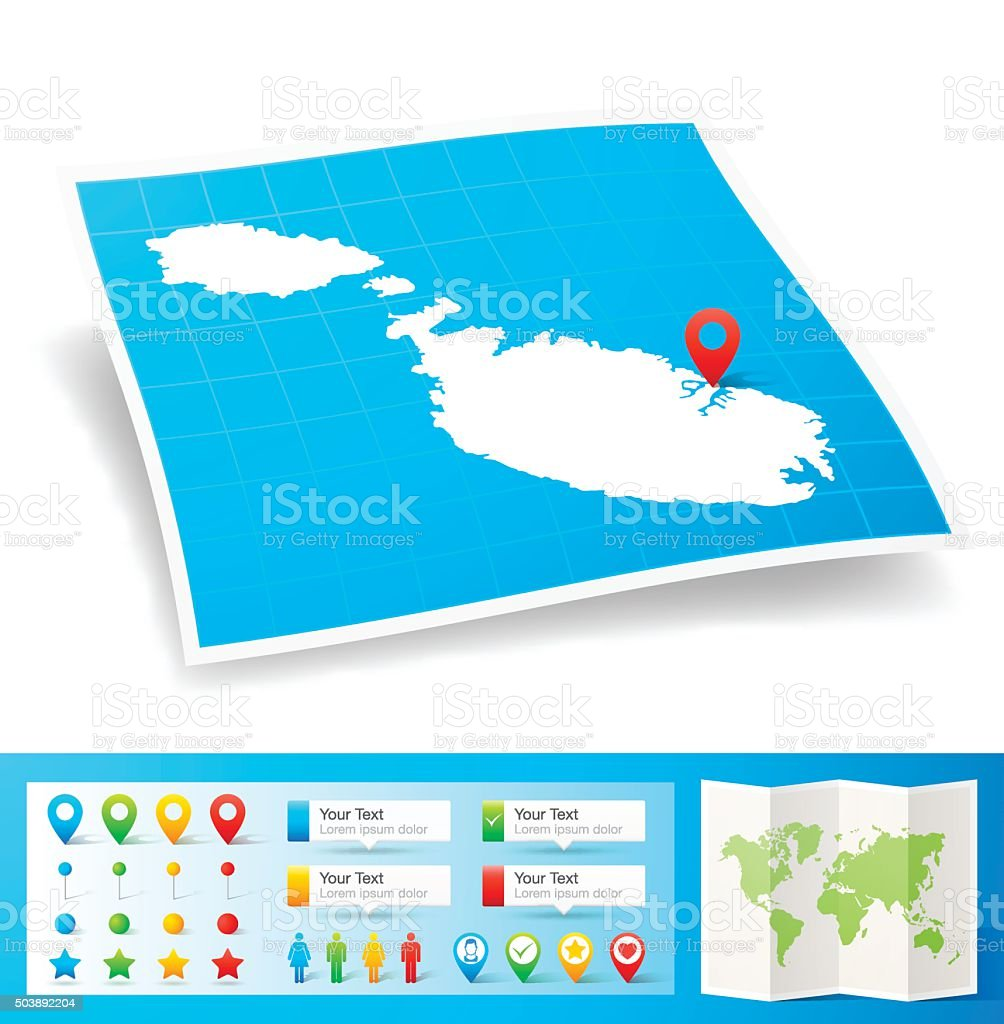 Marshall Islands Map With Location Pins Isolated On White ...