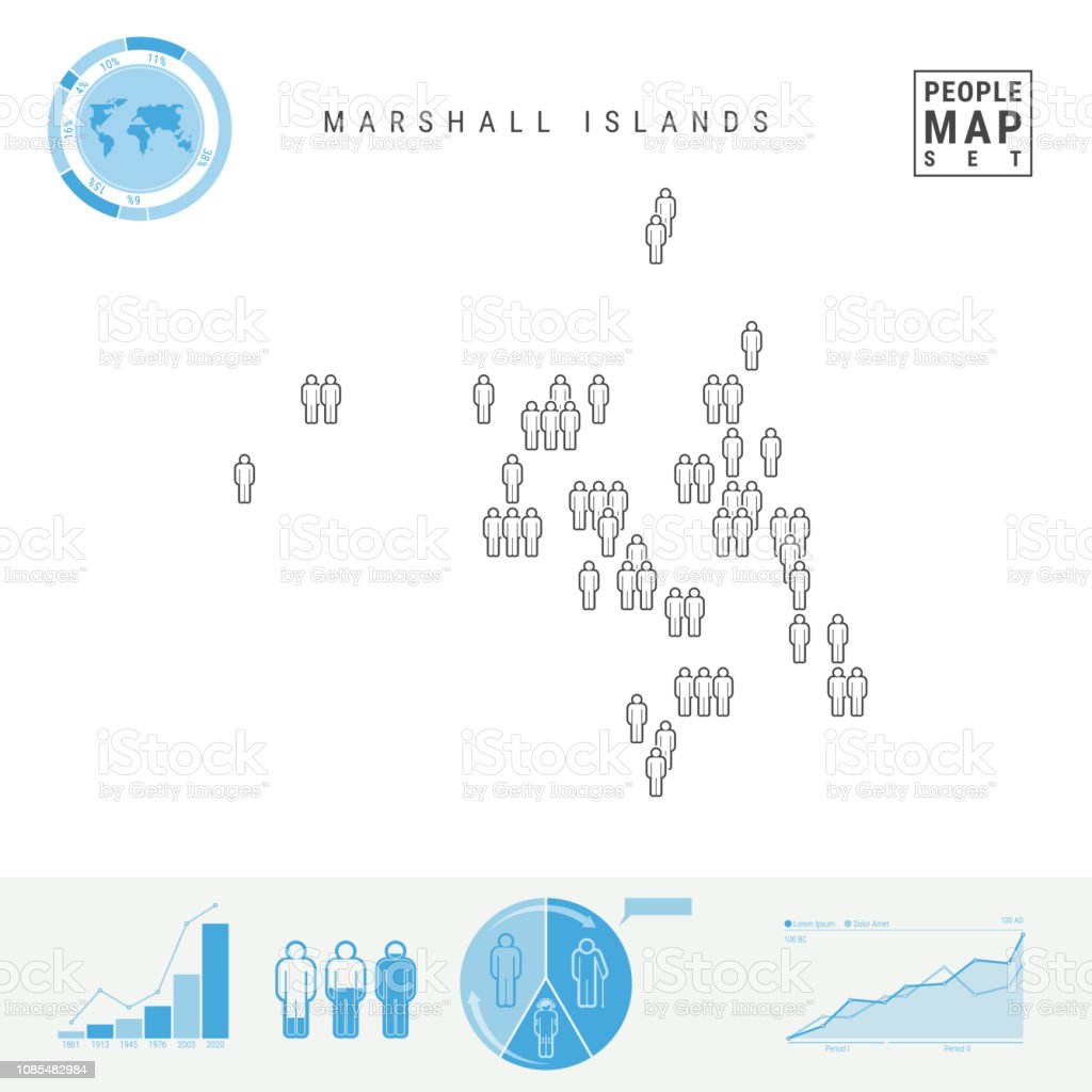 Marshall Islands People Icon Map Stylized Vector Silhouette ...