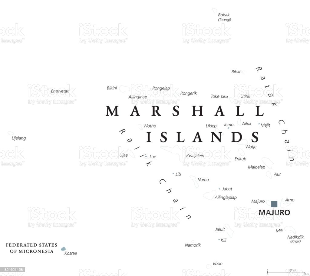 Marshall Islands political map royalty-free marshall islands political map  stock vector art &