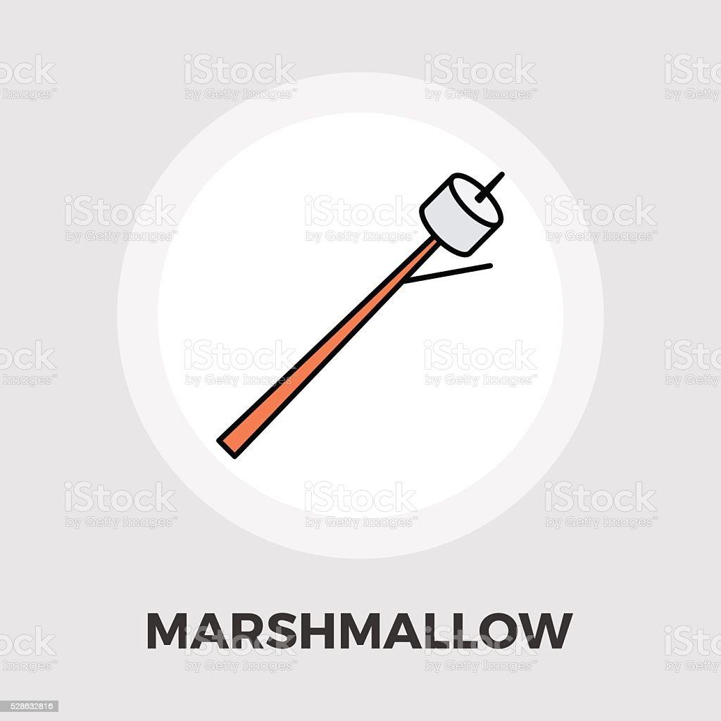 Marshmallow icon flat vector art illustration