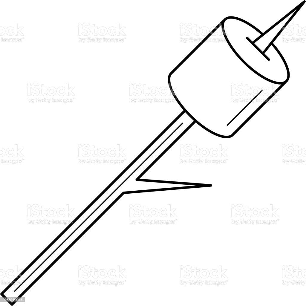Marshmallow line icon vector art illustration