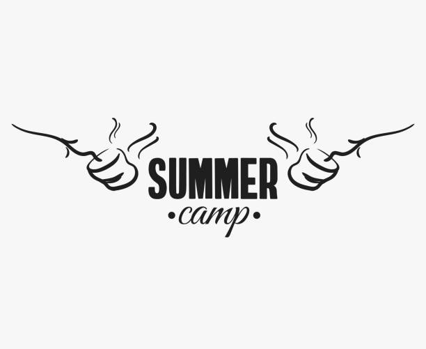 Marshmallow_Summer_Camp_Badge vector art illustration