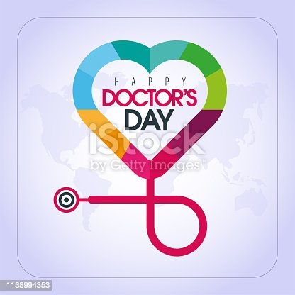March 30,  World Doctor's Day. concept greeting card, National Doctors Day Template calligraphy, vector, illustration.