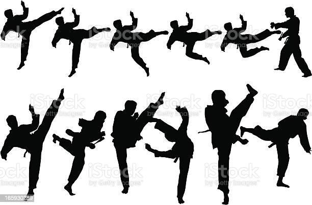 Martial Art Stockvectorkunst en meer beelden van Fitness