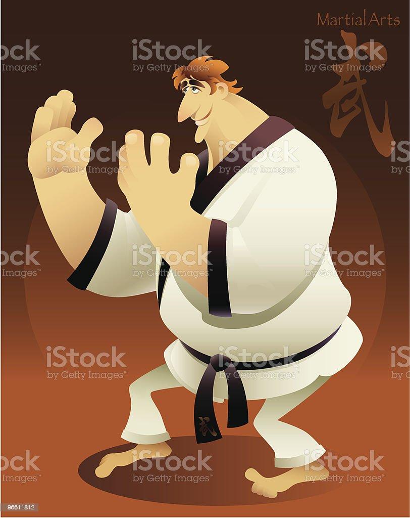 martial artist - Royaltyfri Asiatisk kampsport vektorgrafik