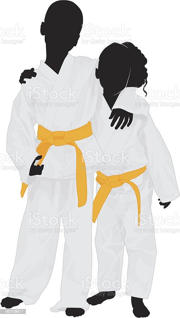 Martial Arts class vector art illustration