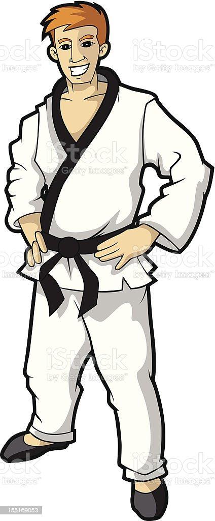 Martial Arts Fighter - ilustração de arte em vetor
