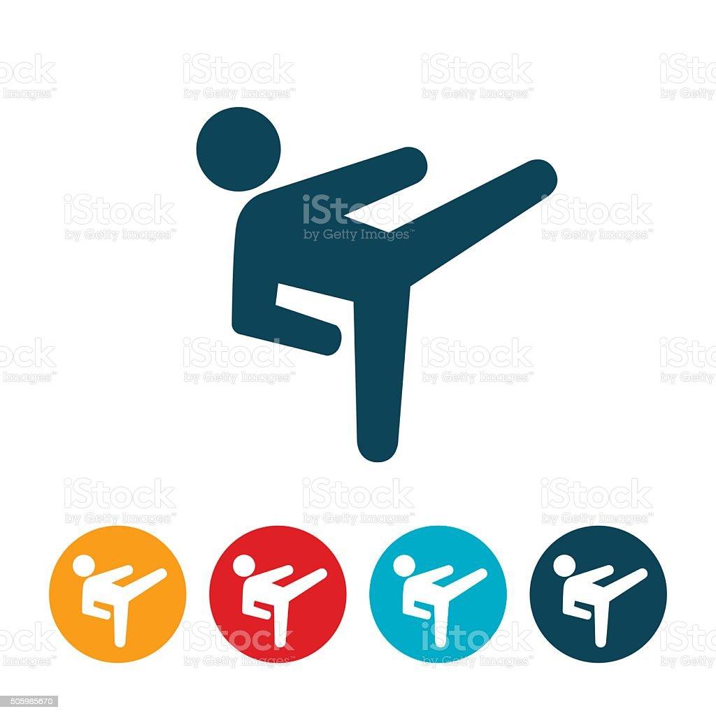Martial Arts Icon vector art illustration