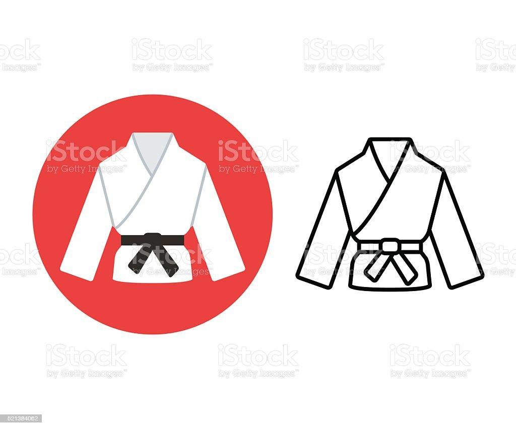 Ícone de artes marciais - ilustração de arte em vetor