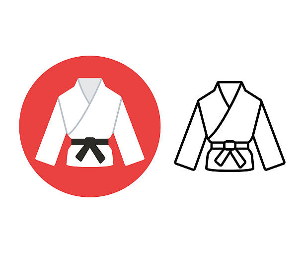 martial arts icon - martial arts stock illustrations