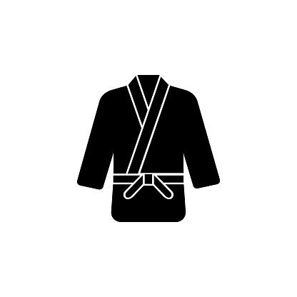 Martial arts icon,Karate or judo uniform symbol