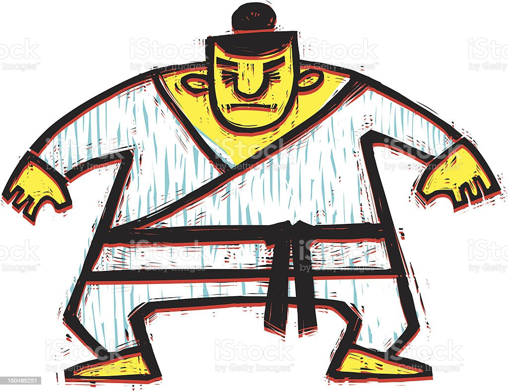 Mestre das artes marciais - ilustração de arte em vetor
