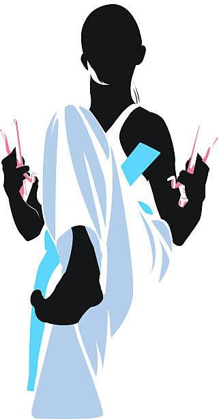 Martial Arts sais vector art illustration
