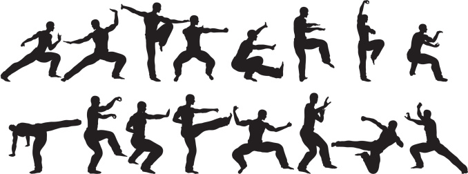 Martial Arts  Sihlouettes