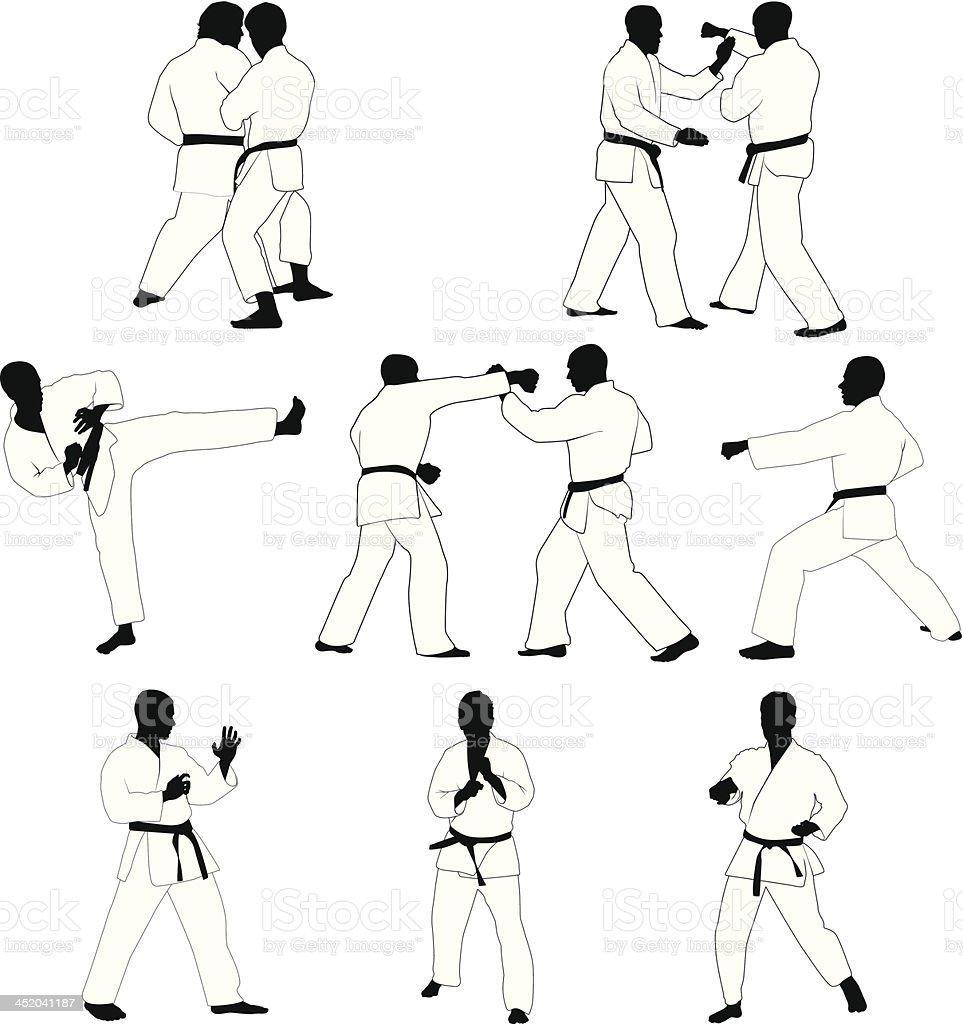 Artes marciais - ilustração de arte em vetor