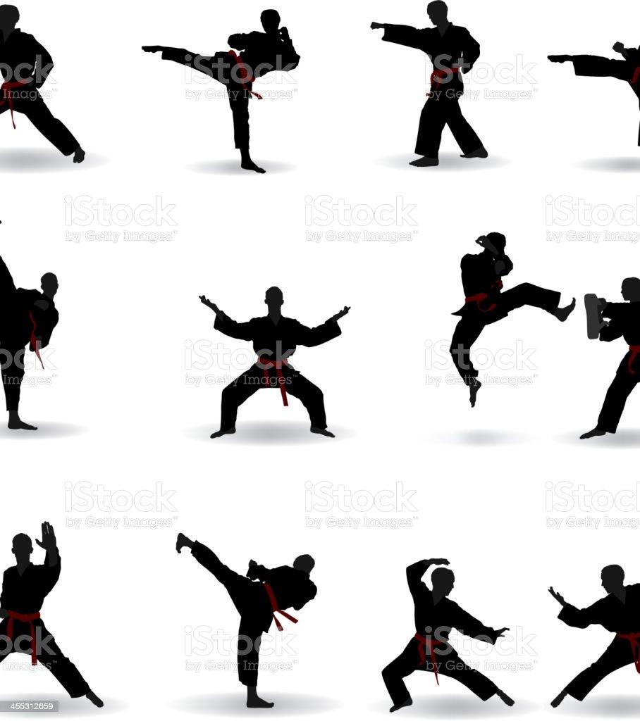Martial Arts vector art illustration