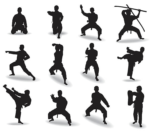 martial arts - martial arts stock illustrations