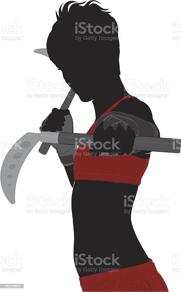 Martial Arts weapon vector art illustration
