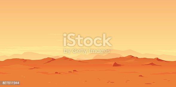 istock Martian Landscape Background 827511944