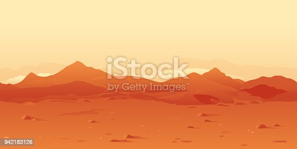 istock Martian Landscape Background 942183126
