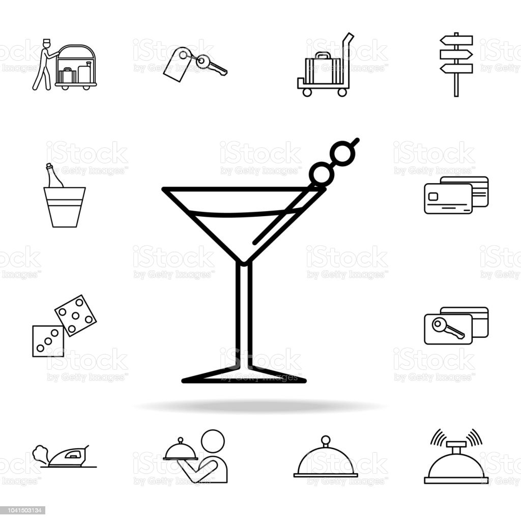 Martini Glass Icon Hotel Icons Universal Set For Web And Mobile Royalty Free