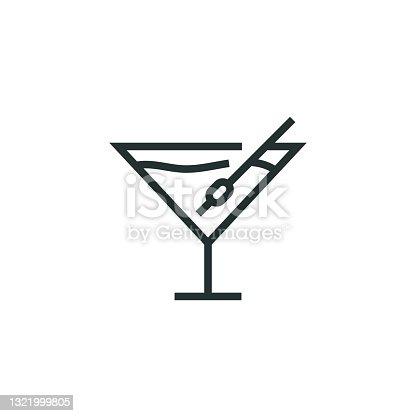 istock Martini Line Icon 1321999805