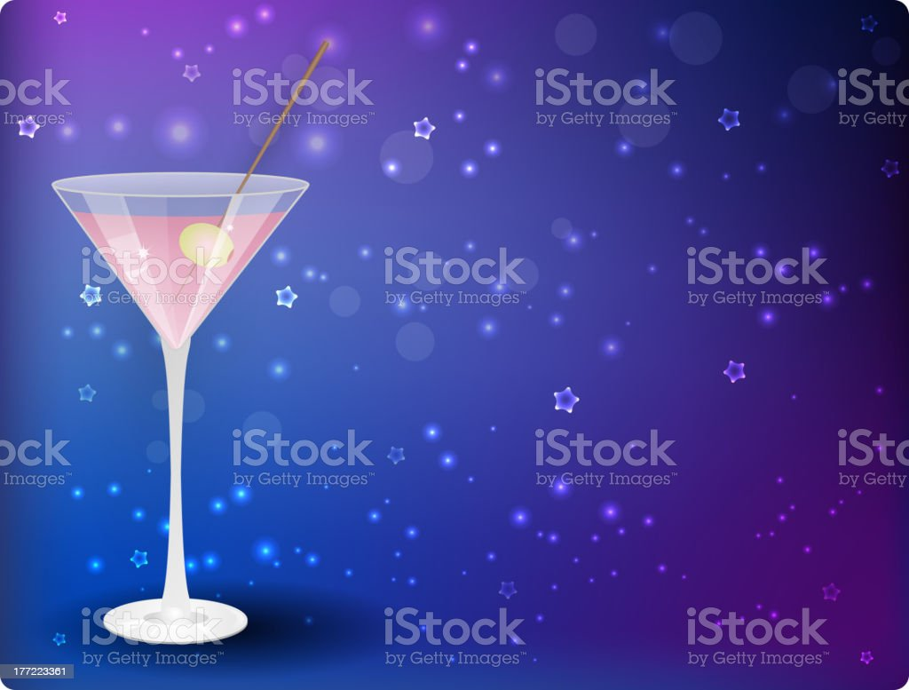 Martini on night background royalty-free stock vector art