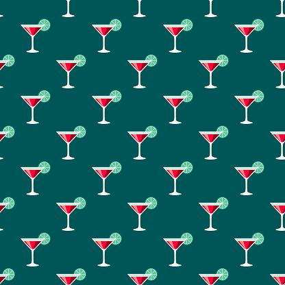 Martini Seamless Pattern