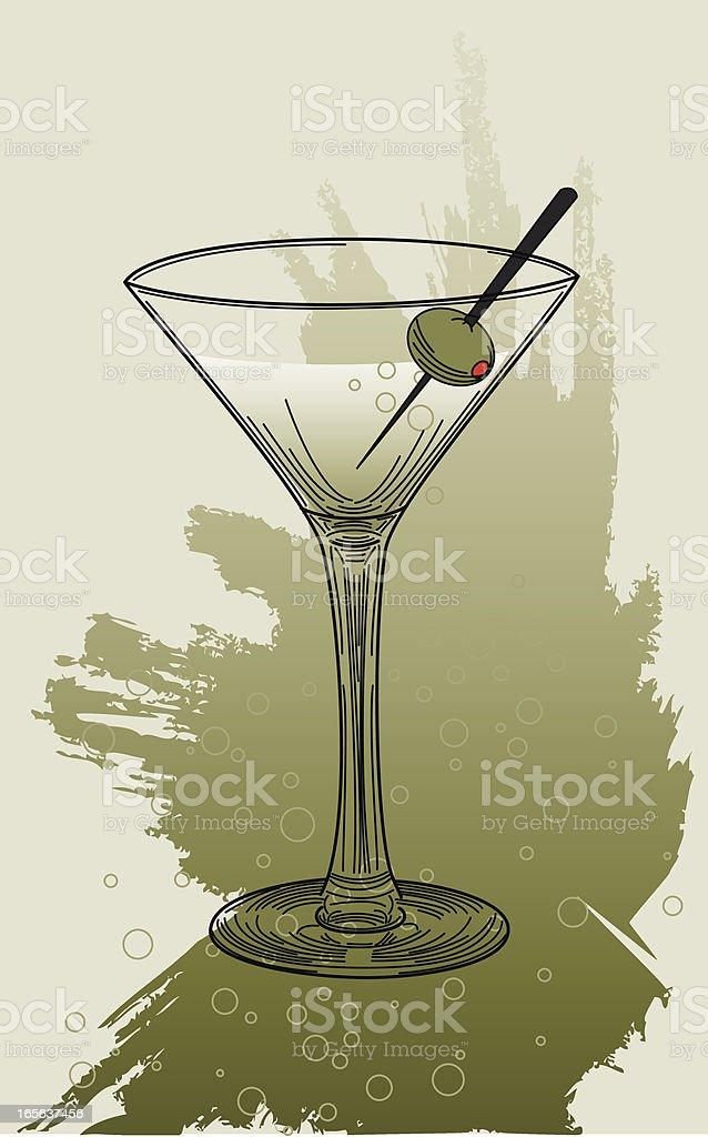 Martini vector art illustration