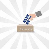 Martinique Elections Vote Box Vector Work