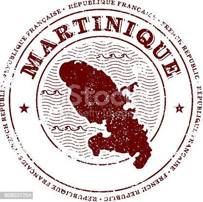 Martinique Island Travel Stamp