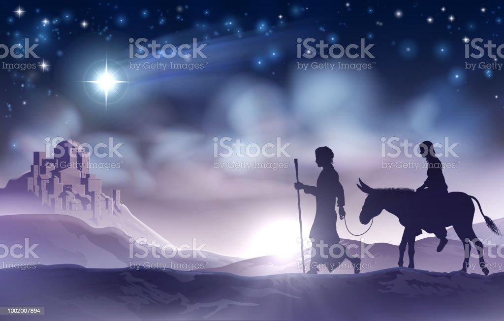 Mary And Joseph Nativity Christmas Illustration Stock Illustration Download Image Now Istock