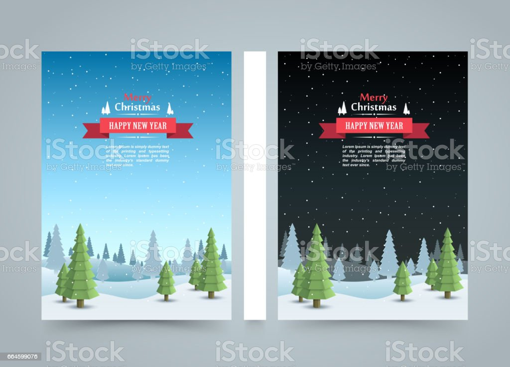 Mary christmas cover art, Happy new year flyer background, template design element vector art illustration