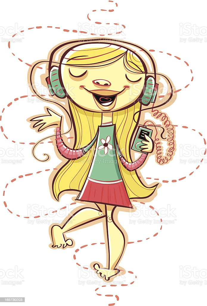 MP3 Mary royalty-free stock vector art