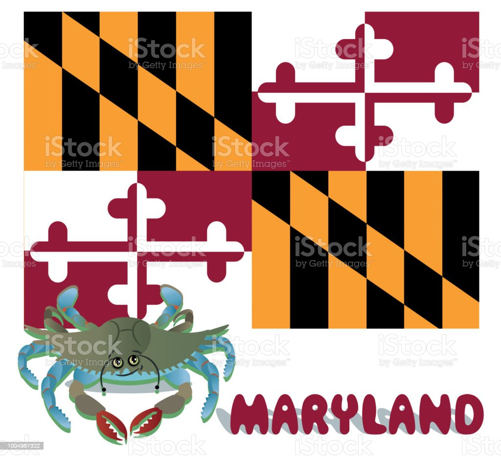 Maryland Blue Crab Stock Vector Art & More Images of Aberdeen ...