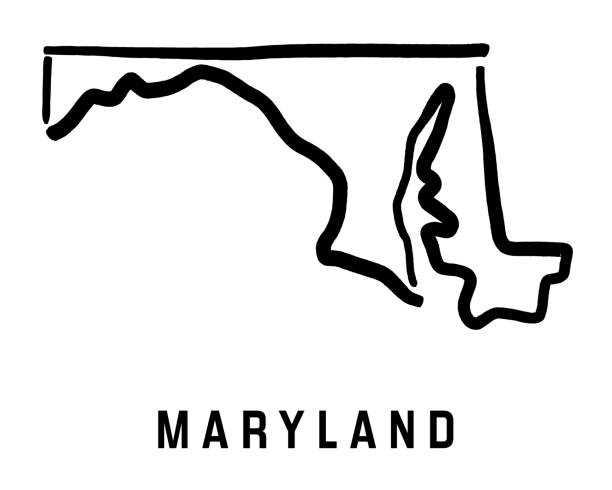 Royalty Free Maryland Outline Clip Art, Vector Images