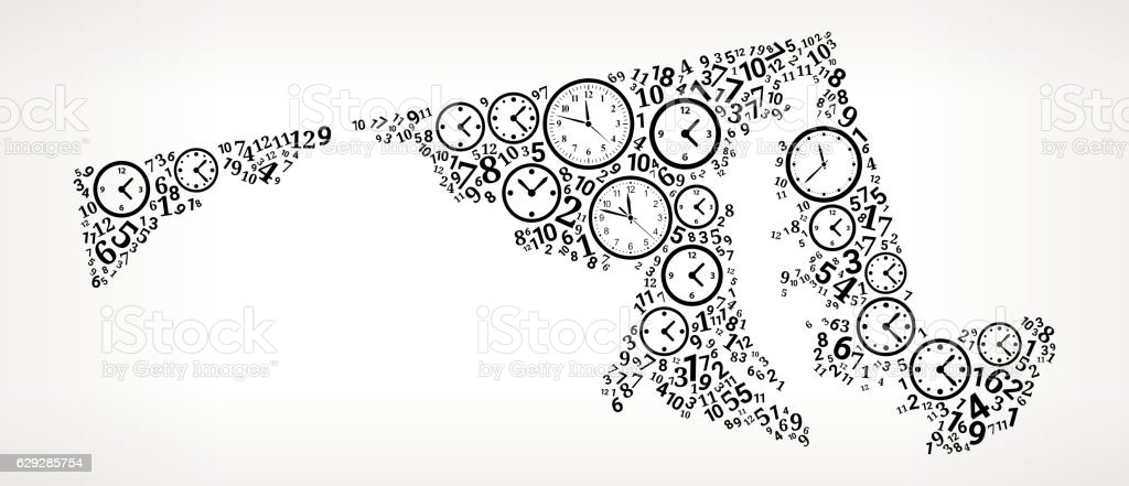 Maryland On Time And Clock Vector Icon Pattern Stock Vektor Art und ...