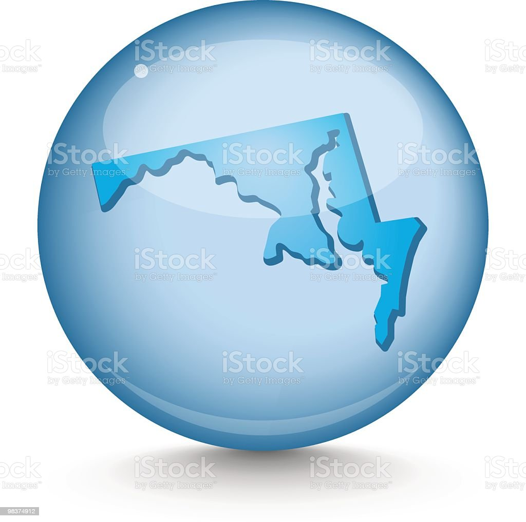 Maryland - Sphere State Series royalty-free maryland sphere state series stock vector art & more images of blue