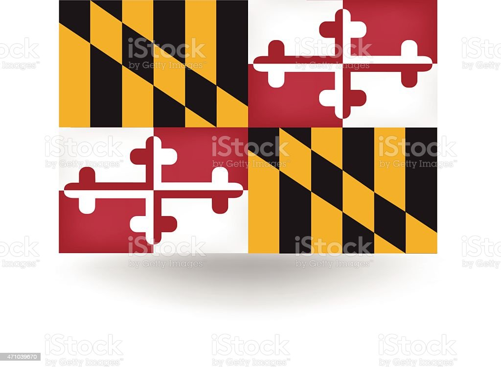 royalty free maryland state flag clip art vector images rh istockphoto com