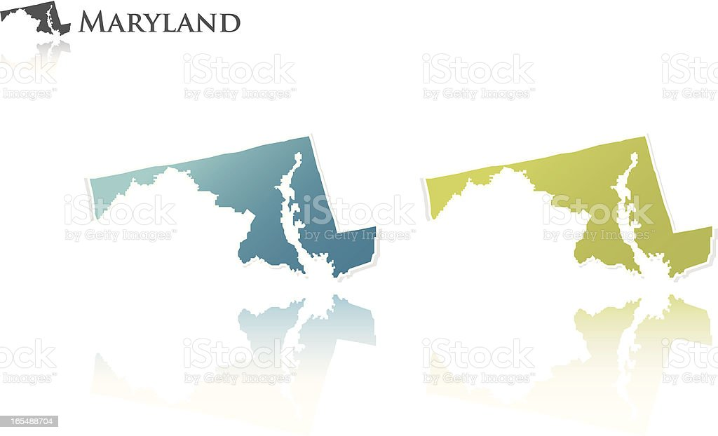 Maryland state graphic royalty-free stock vector art
