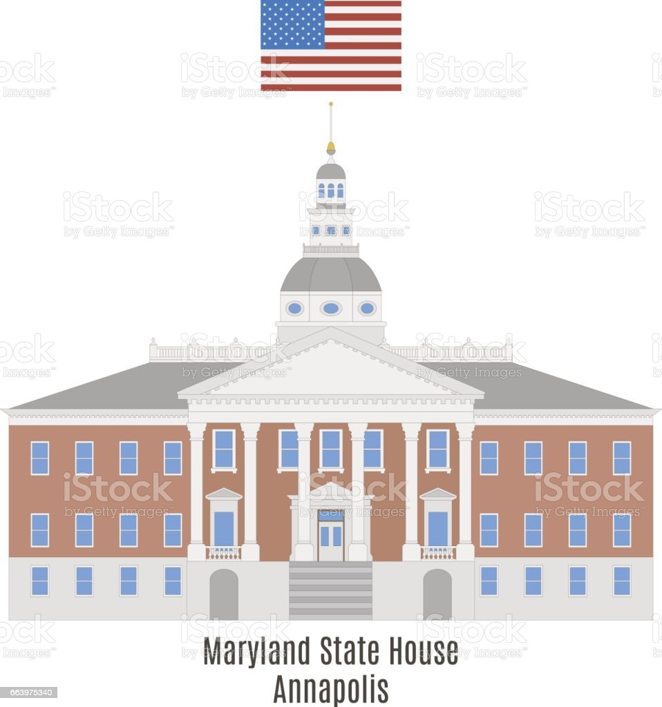 Maryland State House Annapolis Stock Vector Art & More Images of ...