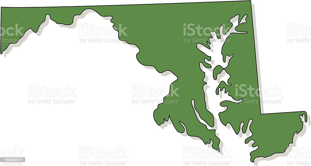 Maryland royalty-free stock vector art