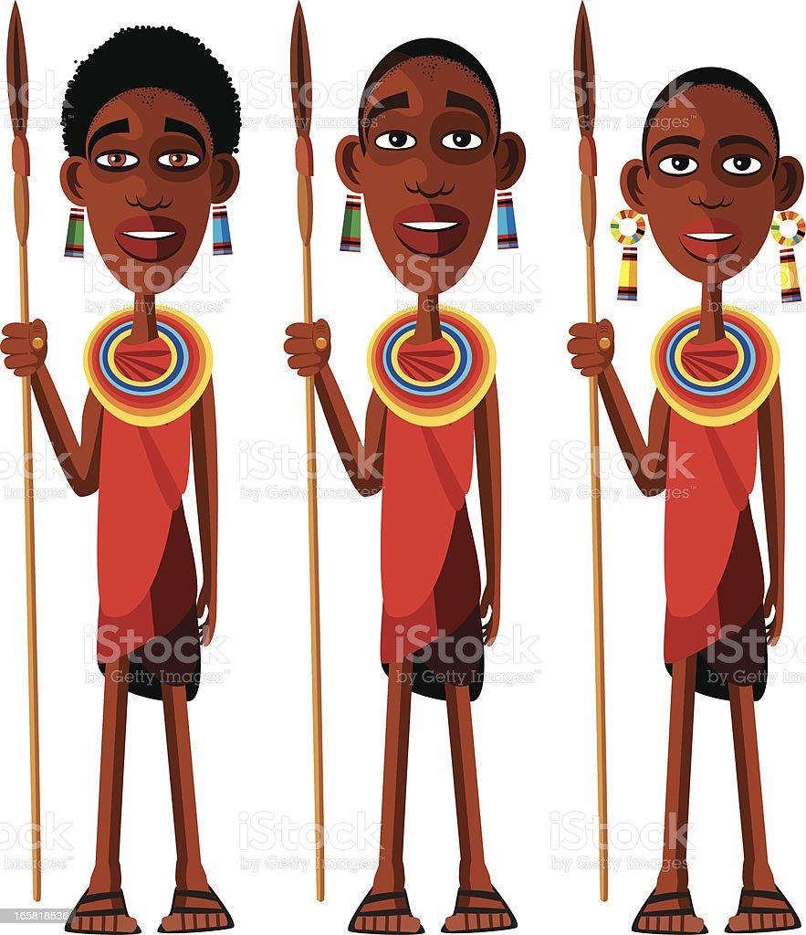 Masai Stock Illustration