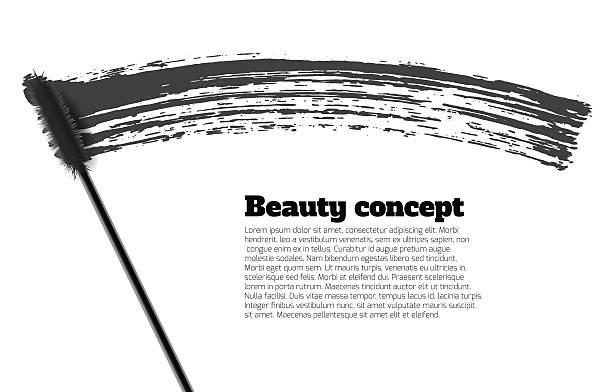 Wimperntusche brush stroke Vektor, beauty-Hintergrund – Vektorgrafik
