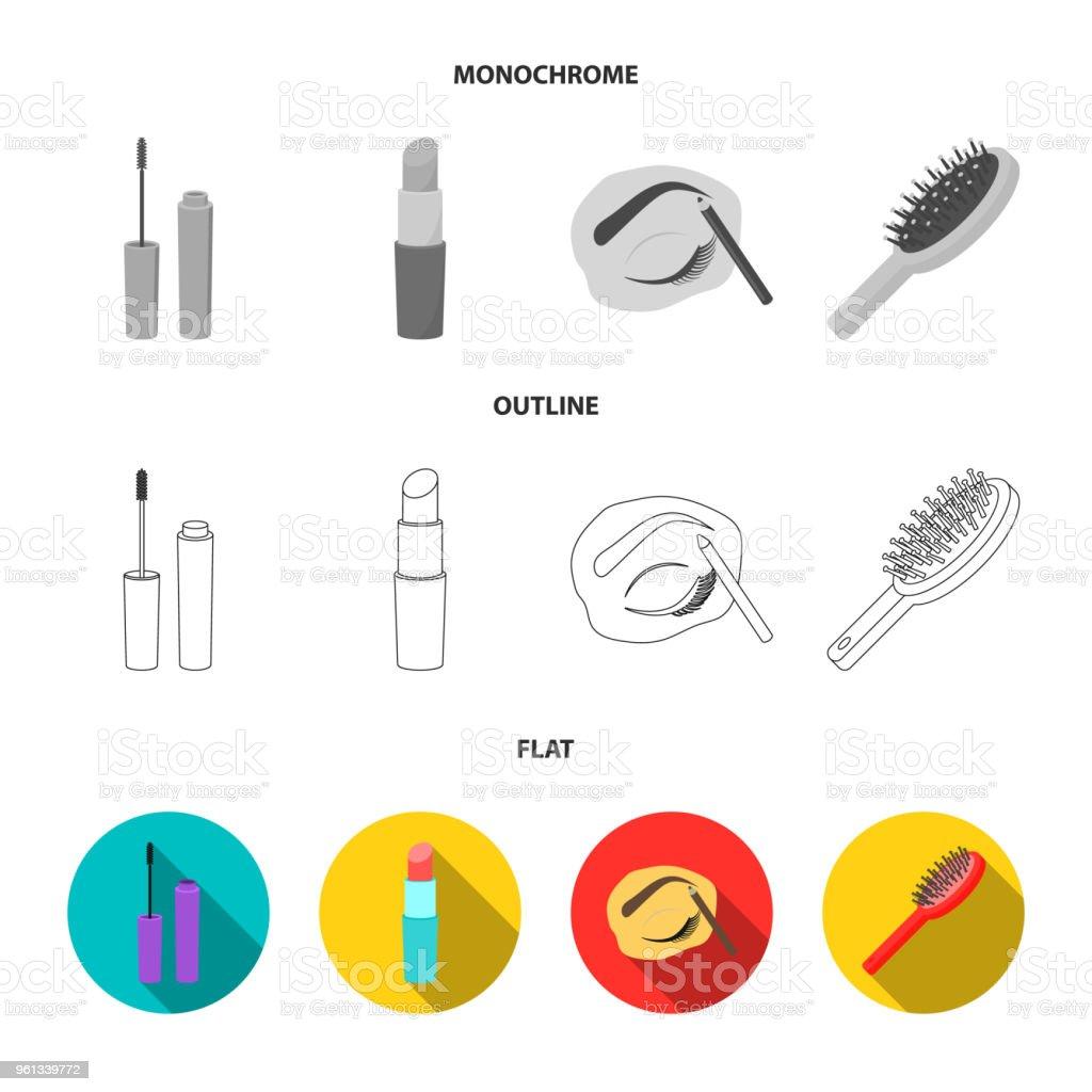 Mascara Crayon Brosse À Cheveux Rouge Sourcils Maquillage Lèvres EDH9I2