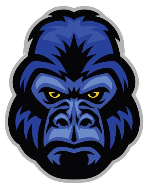mascot of gorilla head - gorilla stock illustrations