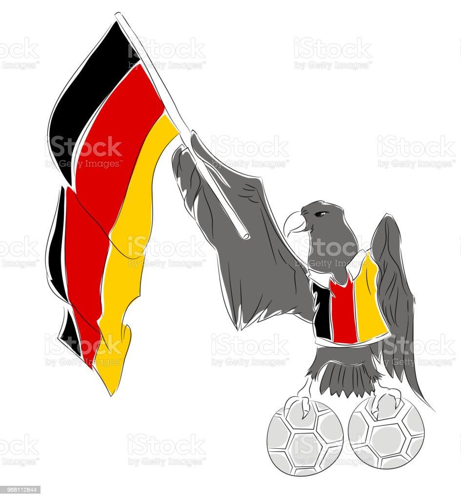Alman futbol maskotu vektör sanat illüstrasyonu