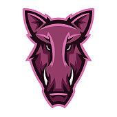 istock Mascot stylized boar head. 1250207074